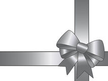 Silver gift ribbon Royalty Free Stock Photography