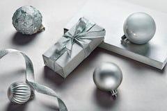 Silver gifts Stock Photos