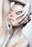 Silver girl Stock Photos
