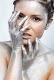 Silver girl Royalty Free Stock Photos