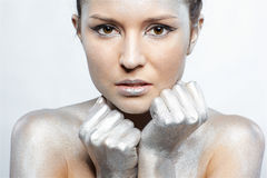 Silver girl Royalty Free Stock Photo