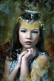 Silver girl Royalty Free Stock Image