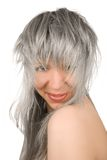 Silver girl Stock Photo
