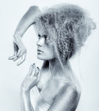 Silver girl royalty free stock images