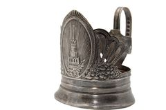 Silver glass-holder Stock Images