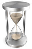Silver and glass hourglass Stock Photography