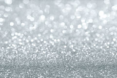 Silver glitter background Stock Photo