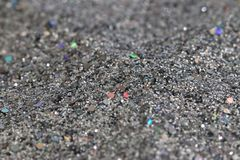 Silver glitter background sparkling closeup Royalty Free Stock Images