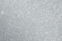 Silver Glitter Background Texture Stock Photo