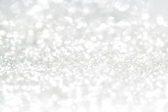 Silver glitter with copy space. Silver defocused glitter background with text space Royalty Free Stock Photos