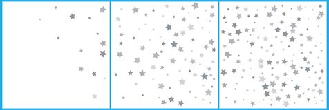 Silver glitter falling stars. Silver sparkle star on white background. Vector template for New year, Christmas, birthday, party,. Wedding, card, invitation vector illustration