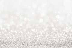 Silver glitter light stock photography