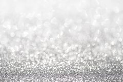 Silver glitter light stock images