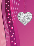 Silver glitter love heart Stock Photography