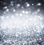 Silver glitter - shiny for Christmas Stock Photography