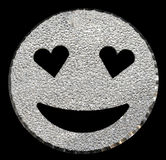 Silver glitter smiling face shining Royalty Free Stock Photos