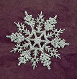 Silver glitter snowflake decoration Royalty Free Stock Images