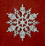 Silver glitter snowflake decoration Stock Image