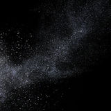 Silver glitter star dust flying. 