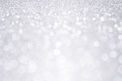 Silver Glitter Winter Christmas Background Stock Photography