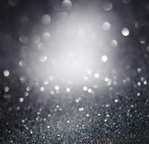 Silver glittering christmas lights. Stock Photography