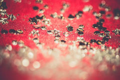 Silver Glitters on Pink Retro Royalty Free Stock Image