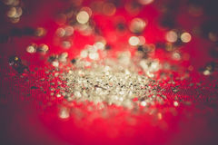 Silver Glitters on Pink Retro Royalty Free Stock Photo