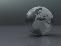 Silver Globe Royalty Free Stock Photography