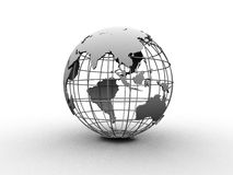 Silver globe Stock Photo
