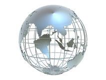 Silver globe Royalty Free Stock Photo