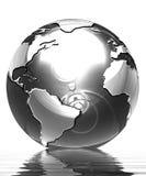 Silver globe Stock Image