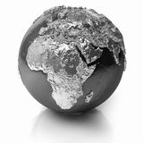 Silver Globe - Africa Royalty Free Stock Photos