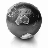 Silver Globe - Australia Royalty Free Stock Photography