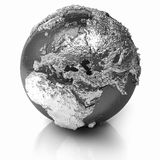 Silver Globe - Europe Royalty Free Stock Image