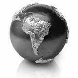 Silver Globe - South America Stock Image