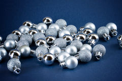 Silver globes stock photography