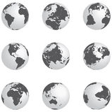 Silver globes Royalty Free Stock Photography