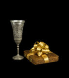 The silver goblet and the gift Stock Image