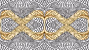 Silver and gold abstract background for the design of textiles,. Silver and gold abstract background is computer graphics and can be used in the design of royalty free illustration