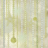 Silver, Gold And Pearl Christmas Decorations Stock Photos