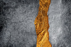Silver and gold background Royalty Free Stock Photos