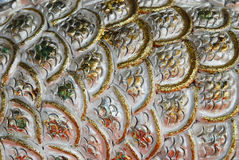 Silver gold background. Continuous silver gold curve surface background Royalty Free Stock Photography