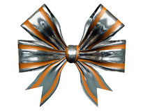 Silver  gold bow Royalty Free Stock Photography