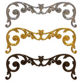 Silver, gold and ceramic decorations stock illustration