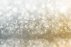 Silver and Gold Christmas background Royalty Free Stock Photography