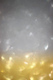 Silver and gold defocused lights. abstract sparkle bokeh lights Stock Photography
