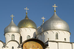 Silver and gold domes Stock Photography