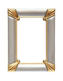 Silver gold frame isolated on white. Picture frame to put pictures in Stock Images