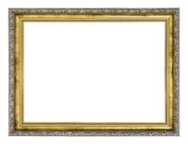 Silver and gold frame Stock Photography