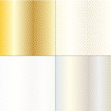 Silver gold geometric patterns Stock Photography